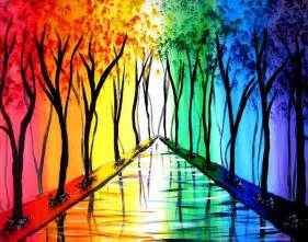 painting rainbow 25 beautiful rainbow painting ideas on