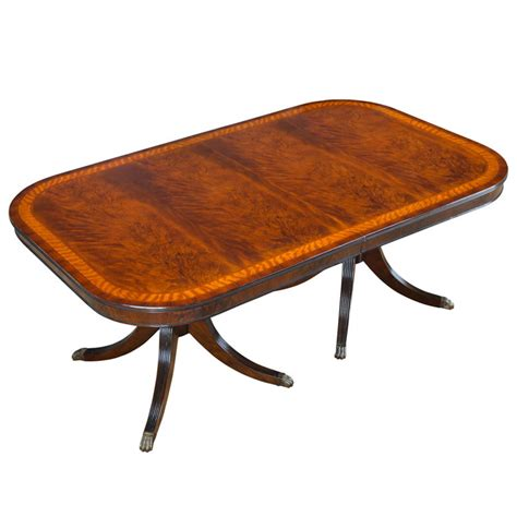 Mahogany Wood Dining Table Home Furniture Dining Room Tables Banded Mahogany