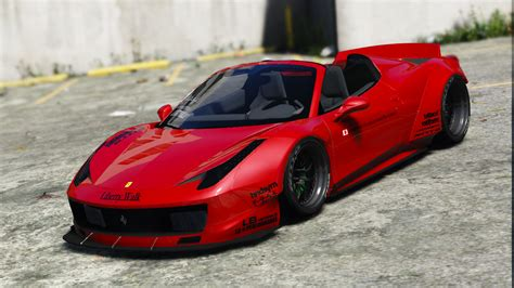 liberty walk ferrari  spider add  tuning livery