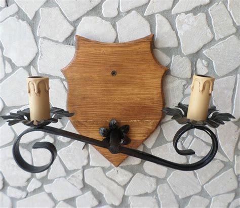 applique cucina applique da parete rustico in ferro battuto legno rustici
