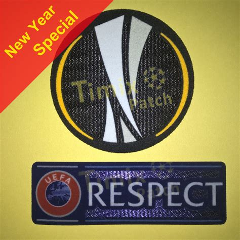 Europa League Dan Respect 2012 2015 uefa europa league 2015 respect sleeve soccer patch velvet badge timix patch timix patch