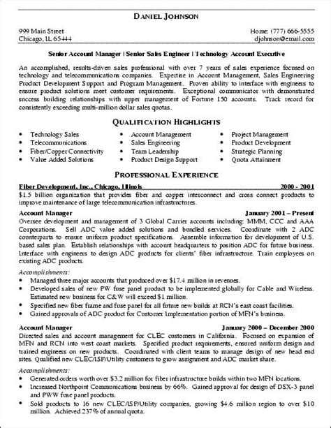 it sales engineer resume exle resume exles engineers and resume