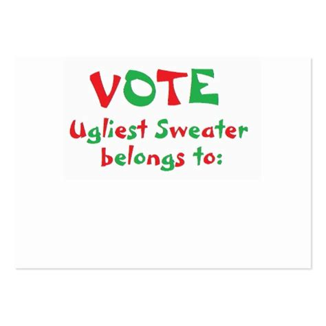 ugly sweater party voting ballots free share the knownledge