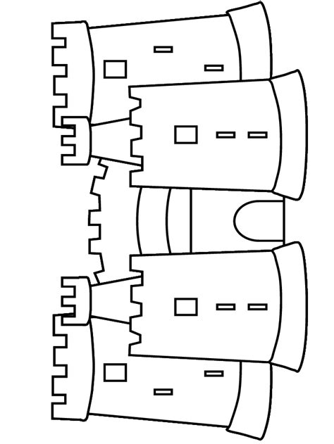 castle template free sand castle coloring pages