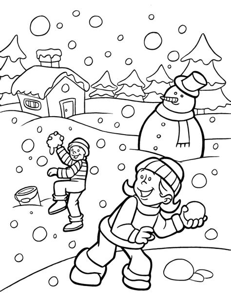 winter coloring pages activity village kids coloring