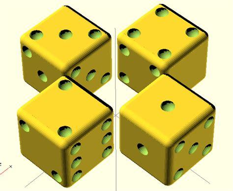 printable dice set introducing efronsitive parametric 3d printable non