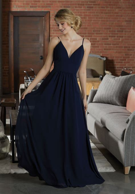 simple chiffon bridesmaid dress featuring  deep
