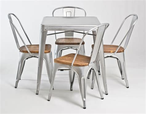 retro industrial look galvanized steel dining collection