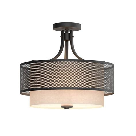 home decorators collection lighting home decorators collection 3 light bronze mesh semi flush