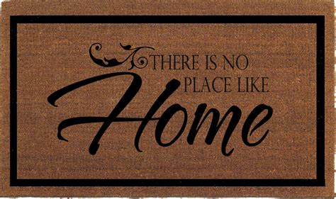 Theres No Place Like 127001 Door Mat For It Geeks by There Is No Place Like Home Door Mat Coir By Franklinandfigg