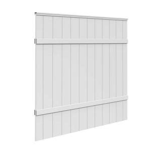 home depot windham 6 ft h x 6 ft w white vinyl windham fence panel 73014216