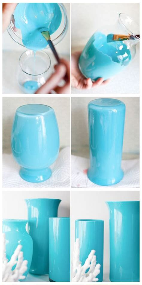 How To Paint Glass Vases by 25 Best Ideas About Blue Vases On Blue Glass