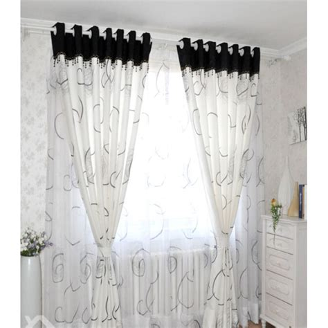 black and white ready made curtains modern white black cool patterned ready made curtains