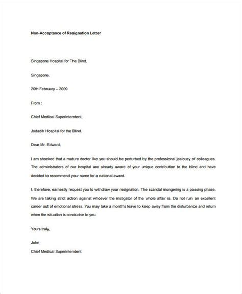 Business Letter Acceptance Of Resignation 32 Resignation Letters In Pdf Free Premium Templates