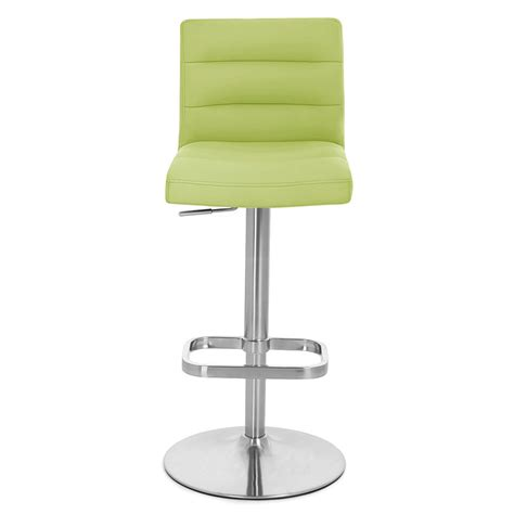 Lime Green Bar Stool Lime Green Lush Adjustable Height Swivel Armless Bar Stool Zuri Furniture