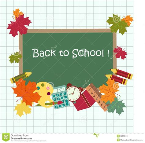 Back To School Card Template by Back To School Card Stock Photos Image 32870123