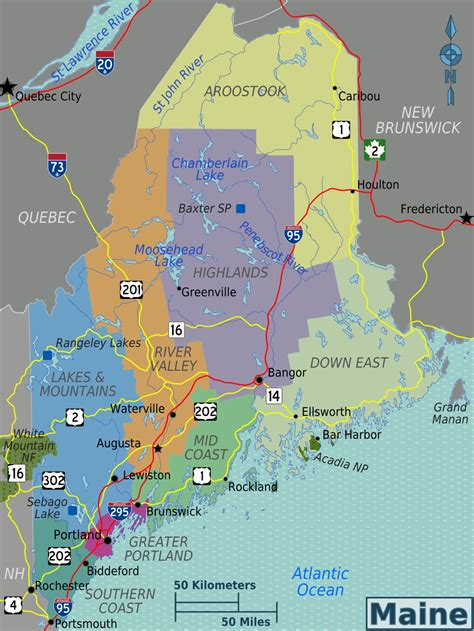city map of maine maine travel guide at wikivoyage