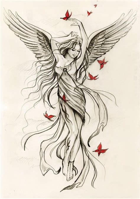 angel tattoo ta guardian angel tattoos for women angel tattoo designs1