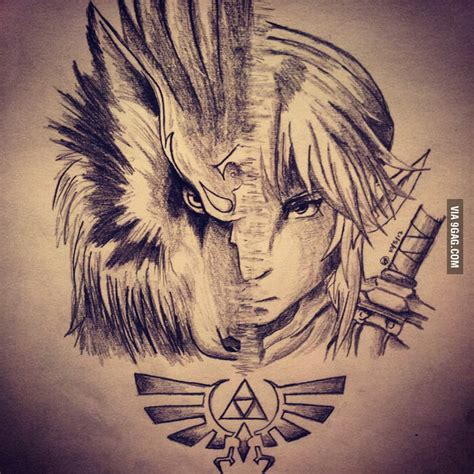 9gag Sketches by Link Twilight Princess Drawing 9gag