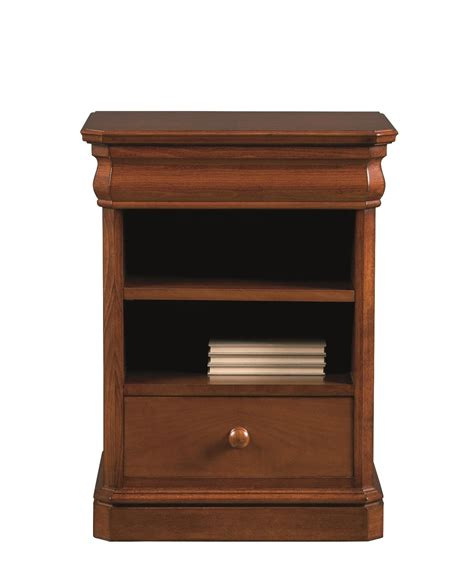side table with two drawers two drawers bedside table with open compartment