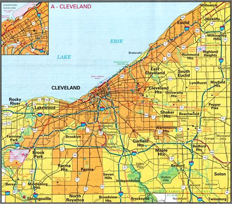 map of cleveland ohio map of cleveland ohio map3