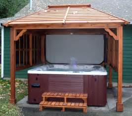 Building A Awning Over A Deck Tub Pavilions