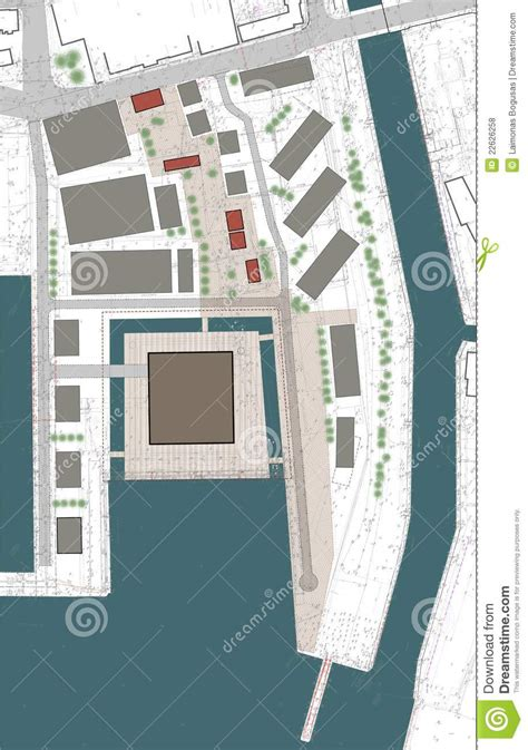 Building Ground Floor Plan by Ground Floor Plan Of The Building Complex Royalty Free