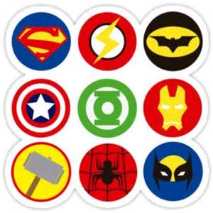 superheroes 180 logos from redbubble stickers