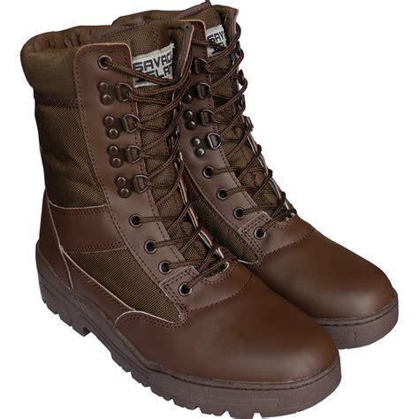 brown combat boots savage island