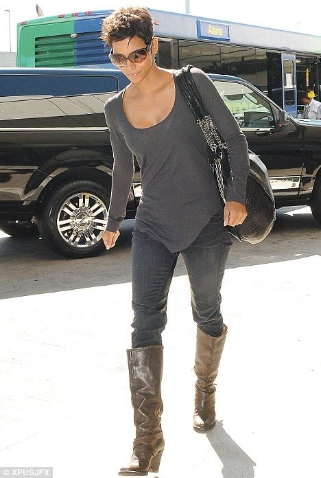 Halle Berry Obviously Not by Halle Berry Jets Out Of La And Heads Back To Join New
