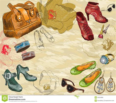 vintage home decor accessories stock photos freeimages com fashion background with shoes woman accessories a royalty