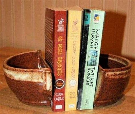 handmade pottery coffee or tea cup bookends coffee cups