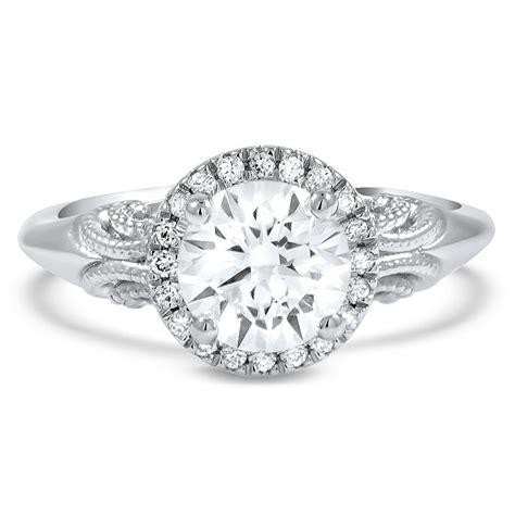 antique wedding rings denver custom antique inspired halo engagement ring brilliant earth