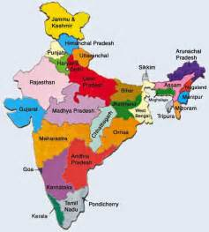 list of states in india capital union territories map