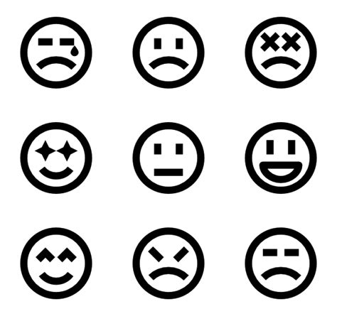 short cuts for large faces face icons 3 212 free vector icons
