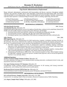 administrative professional resume example resumes