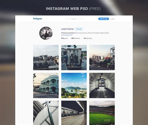 instagram templates for photoshop instagram website template free psd download download psd