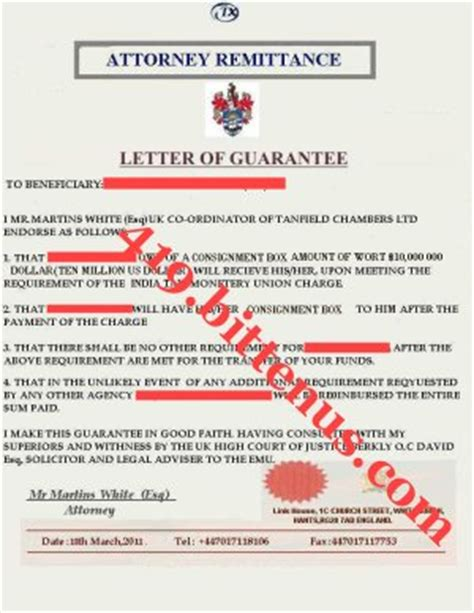 Guarantee Letter Shipping Bent Cole Mr Key Brain And His Nationality Is