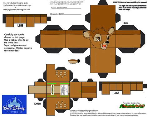 3d Papercraft Printables - dis48 cubee by theflyingdachshund on deviantart