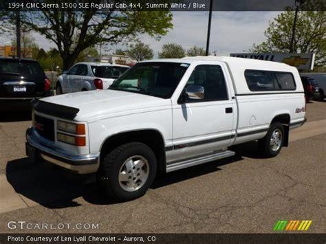 1994 gmc 1500 4x4 summit white 1994 gmc 1500 sle regular cab 4x4