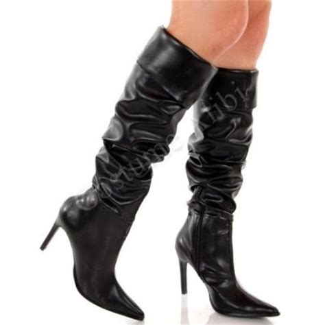 fashionable and stylish with black high heel boots