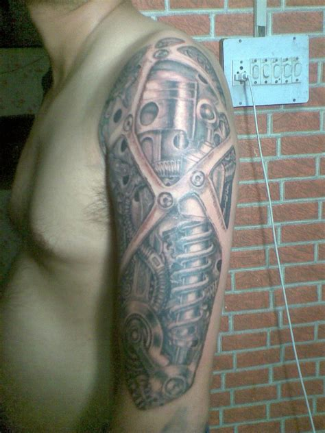 biomechanical arm tattoo biomechanical tattoos page 2