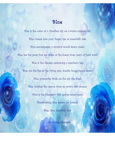 poems about colors color poem