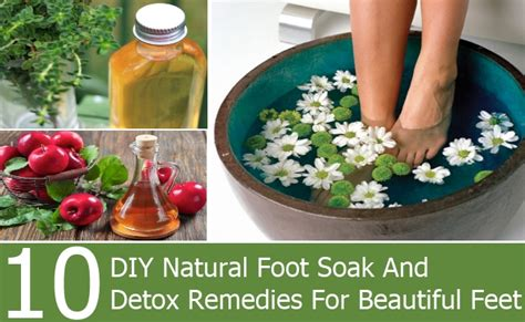 At Home Remedies For Detox by 10 Diy Foot Soak And Detox Remedies For Beautiful
