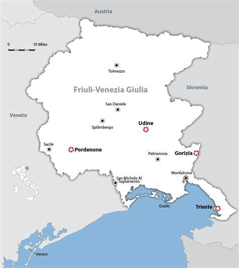 friuli venezia giulia friuli venezia giulia map and guide wandering italy