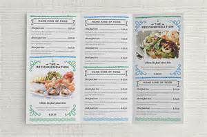 seafood menu templates seafood menu template brochure templates on creative market