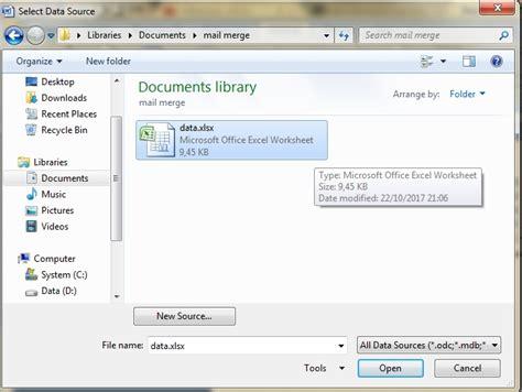 cara membuat mail merge dari excel ke word 2003 cara membuat mail merge di word dengan sumber data dari