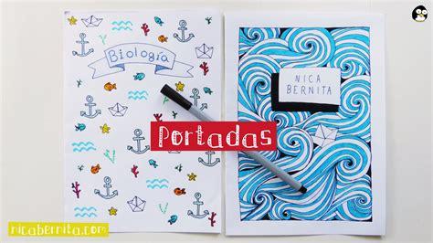 ideas para decorar libretas bonitas portadas para cuadernos y libretas con dise 209 os marinos