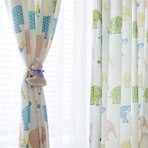 toddler curtains fun home kids curtains and drapes with cute elephants