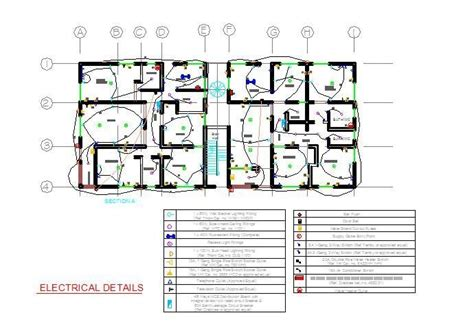 apartment block electrical plan cad dwg cadblocksfree